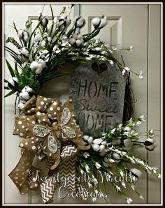 Summer All Year Farmhouse Grapevine Wreath by Twentycoatswreath