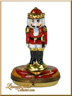 Festive Nutcracker Soldier Limoges Box by Beauchamp www.LimogesBoxCollector.com