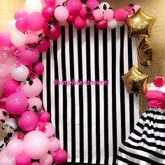 Kate spade ♠️ inspired ballon garland pretty in pink. photo booth perfect for birthdays, bridal showers and baby showers. Follow us in Instagram or Facebook @simplylavishevent
