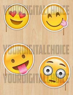 20 digital Photo booth Emoji Partys e di YourChoiceDigital su Etsy