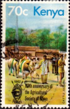 Postage Stamps Kenya 1982 Agricultural Society SG 243 Fine Used Scott 230 Other African Stamps HERE German East Africa, Old Stamps, Going Postal, Africa Art, Stamp Collecting, Culture Travel, Cows, Postage Stamps, Kenya