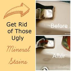 Get Rid of ugly Mineral Deposits with one ingredient already in your home!