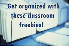 Get organized in your classroom with these freebies!