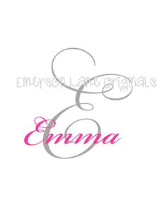 Simplicity Monogram Design - FILE ONLY. $5.00, via Etsy.