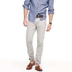 484 slim-fit jean in light grey garment dye - pants - Men's new arrivals - J.Crew