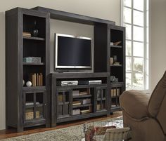 Gavelston 4 Piece Entertainment Center. Learn more: http://www.closetfactory.com/entertainment-centers/