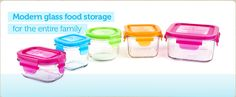 Wean Green - Glass Baby Food Containers