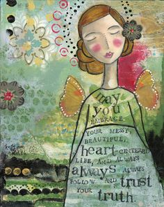 Your-Messy-Beautiful-Life-prints-Kelly-Rae-Roberts-Ready-to-Frame-matted-signed