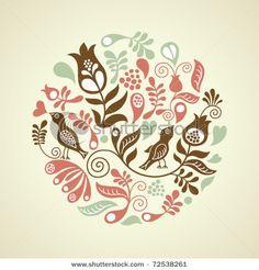Floral vintage illustration
