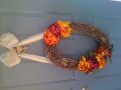 Unusual Shape DIY Fall Wreath