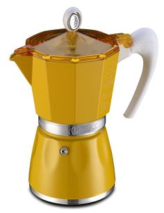GAT: Bella 6 Cup Stove Top Traditional Italian Espresso Coffee Maker in Yellow
