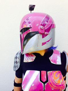 Cosplay Helmet, Cosplay Diy, Best Cosplay, Cosplay Ideas, Star Wars Helmet, Mandalorian Cosplay, Star Wars Girls, Custom Action Figures, Star Wars Rebels