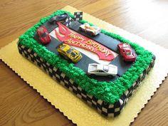 rectangular hot wheels cake