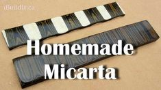 Suitable for knife handles, micarta is strong and distinctive.