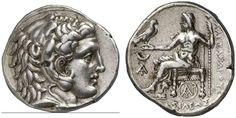 AR Tetradrachm. Greek Coins, Italy, Kindom of Macedonia, Alexander III. the Great, king 336-323 BC, Carrhae mint. Circa 305-300 BC. 17,02g. Price 3820. Good VF. Price realized 2011: 450 USD.