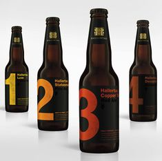 Hallertau Beer. Degree Design may have been the design team behind this very minimalistic design, but I am not too sure.