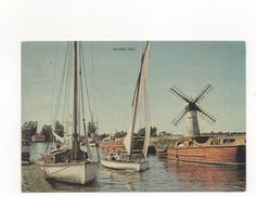 Thurne Mill,,Norfolk, with Old Vroads Cruisers and Yachts PPC (E.A.Webster,) | eBay
