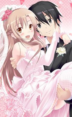 Sword Art Online, Asuna x Kirito, by nisson
