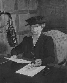 """I could not, at any age, be content to take my place by fireside and simply look on."""" Eleanor Roosevelt, a badass, brilliant woman."""