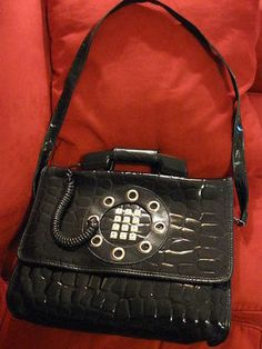LADY GAGA FAUX CROCODILE DALLAS HANDBAG PURSE BRIEFCASE TELEPHONE PHONE