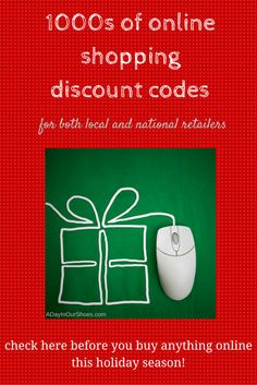 Before you shop this holiday season, check this list of online shopping codes for discounts, free shipping and other great deals.