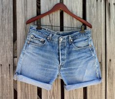 Vintage LEVI 501 Button Fly Jean Shorts  HIGH by TomieHarlene, $25.50