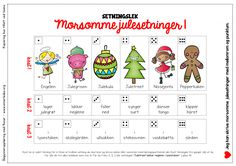 no wp-content uploads 2016 12 AdventskalenderSetningslekRRB. School Subjects, Too Cool For School, Kids Christmas, Kids And Parenting, Diy And Crafts, Language, Teaching, Education, Children