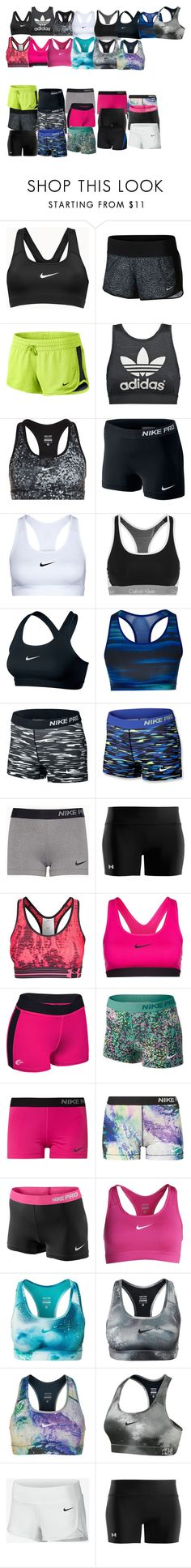 """""""Sports wear"""" by supercait12 on Polyvore featuring NIKE, adidas Originals, Calvin Klein Underwear, adidas, Under Armour, women's clothing, women's fashion, women, female and woman"""