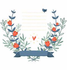 Flower frame background vector by stolenpencil on VectorStock®