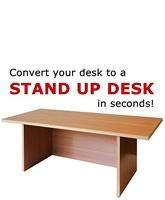 Speedy Stand Up Portable Desk - Golden Beech