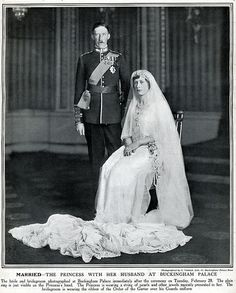 Inglaterra - 1922 Princesa Mary & Visconde de Lascelles