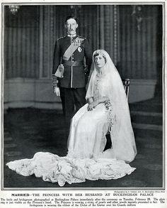 Inglaterra - 1922 Princesa Mary & Visconde de Lascelles