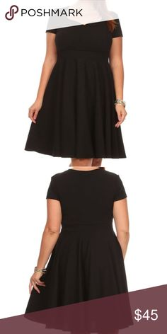 "Plus size black sweetheart dress New. Polyester/spandex. Sweetheart neckline. 1X is 38"" long from shoulder to hem. Dresses"