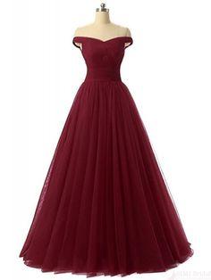 off shoulder prom dresses, burgundy prom dress, elegant prom dresses #SIMIBridal #promdresses