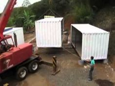 Stacking A  Shipping Container Home.mov
