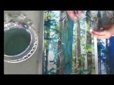 How to paint a forest with watercolor (Out of the Blue) - YouTube time lapse video by Sandrine Pelissier