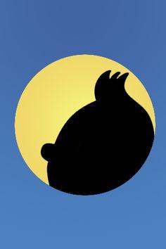 L'ombre de Tintin.