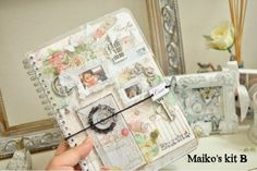 """This is my special kit for the Japanese scrapbooking magazine """"Love My Memories"""" release party. this is a kit that can make the journal book just for you."""