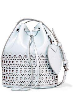 Alaïa | Vienne laser-cut leather bucket bag | NET-A-PORTER.COM