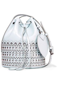 Alaïa | Vienne laser-cut leather bucket bag | NET-A-PORTER.COM