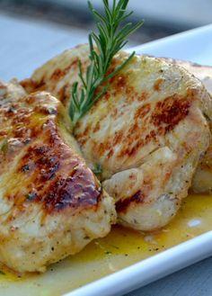 Low FODMAP Recipe and Gluten Free Recipe - Mustard & rosemary pork chops http://www.ibs-health.com/low_fodmap_mustard_rosemary_pork_chops.html
