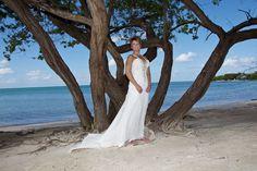 Beautiful scene for wedding photo on the beach at the RIU Montego Bay Jamaica