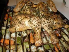 angel food garden: spatchcocked roasted chicken