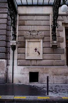 Giraffes that have been popping up on walls in the streets of Paris