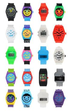 Neff watches. Super cute watches with vibrant colors.