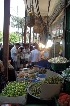 Iran, Tehran, August 2011. Bazar in Tehran. The smell of fruits and spices was  heady...