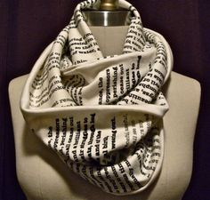 Pride and Prejudice text scarf