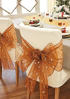 christmas chair covers the range cesca replacement seats uk 261 best images decorated chairs wedding bon prix rolo organtzas decoration table xmas decorations home