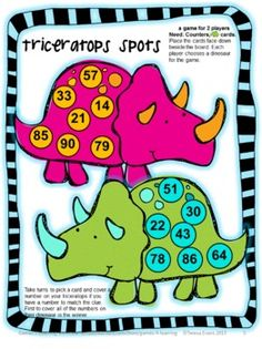 FREEBIE Place Value Games for 2 Digit Numbers from Games 4 Learning. This contains 2 printable Place Value Board Games.