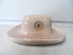 ba15e730a9b50 1960 s President Lyndon B. Johnson Hat Ashtray or Paperweight Presidential  Seal  amp  Signature.